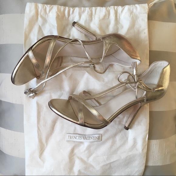 eedf1eda6bfde3 frances valentine Shoes - Frances valentine gold strappy sandals